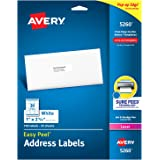 "Avery Address Labels with Sure Feed for Laser Printers, 1"" x 2-5/8"", 750 Labels – Great for FBA Labels (5260)"