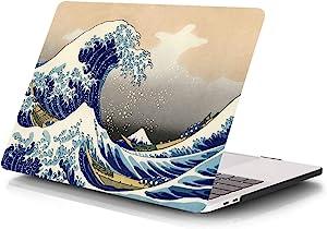 MacBook Pro Retina 15 Inch Case (NO CD-ROM Drive),Funut Slim Hard Plastic Case Rubberized Protective Skin Smooth Folio Case Cover for Model A1398 MacBook Pro 15-Inch with Retina Display (Sea Wave)