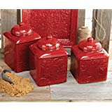Savannah Red Canister Set - 3 pcs