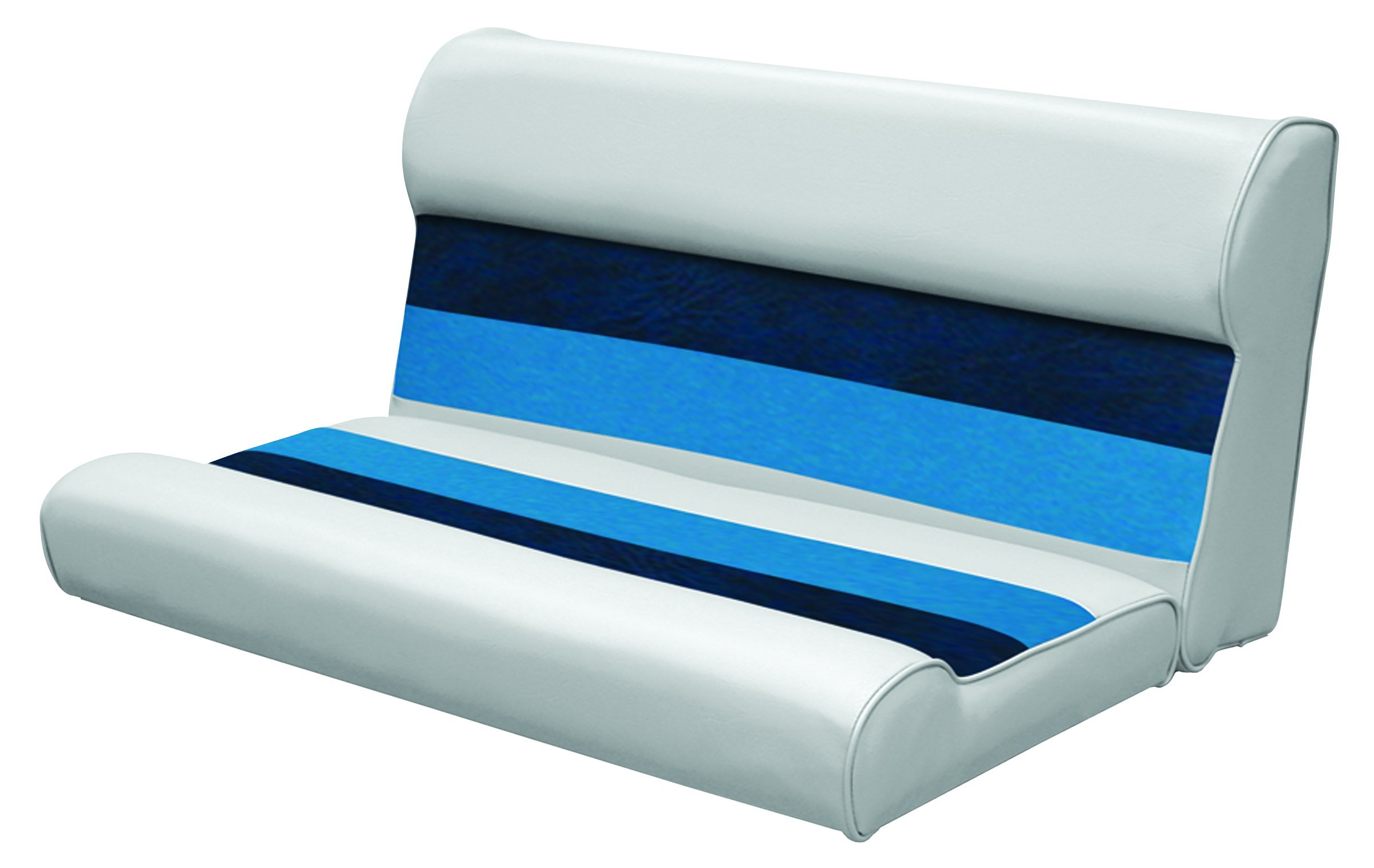 Wise 36-Inch Pontoon Bench Seat Cushion (Base Required to Complete), Gray/Navy/Blue