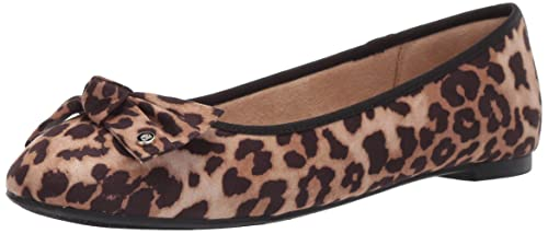 2ce545a27b1 Circus by Sam Edelman Women s Connie Ballet Flat Sand Cheetah Print Fabric  6 ...