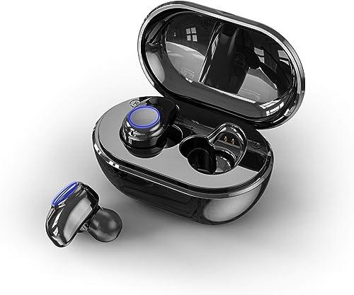 Bluetooth Wireless Earbuds Earphone Bluetooth 5.0 Waterproof TWS Stereo Headphones in-Ear Built-in Mic Headset Premium Sound for Sport Work