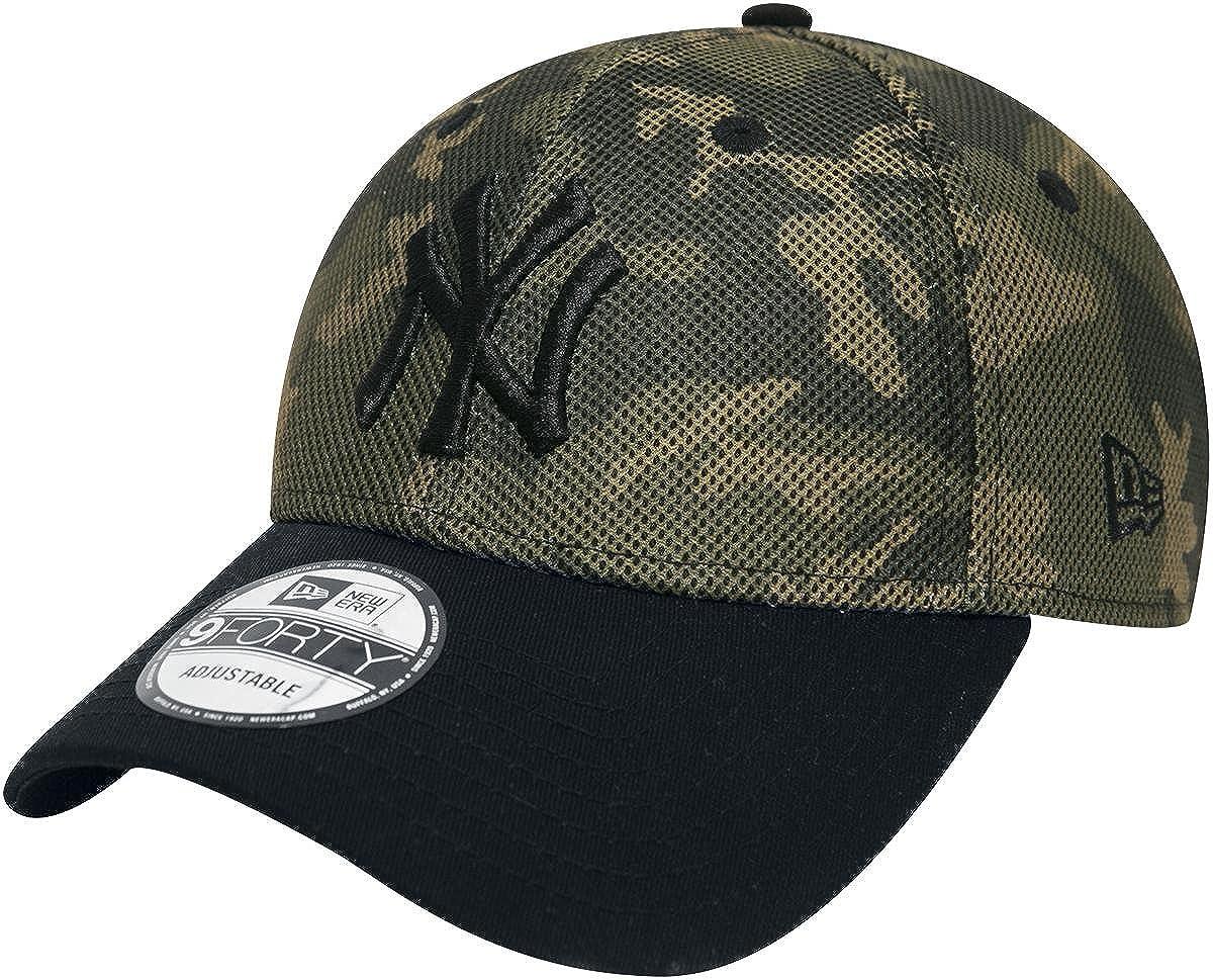 8e3ed3a7444 New Era 9Forty Mesh Overlay MLB New York Yankees Cap Camouflage   Amazon.co.uk  Clothing