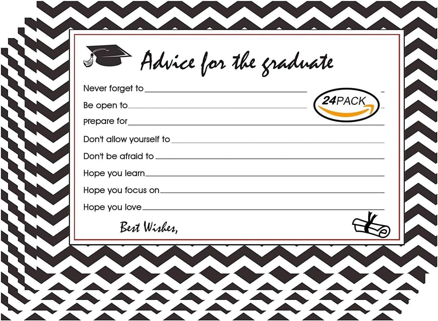 Graduation Advice Cards Assorted Graduation Cards 2019 Grad Party Decor 24 Packs
