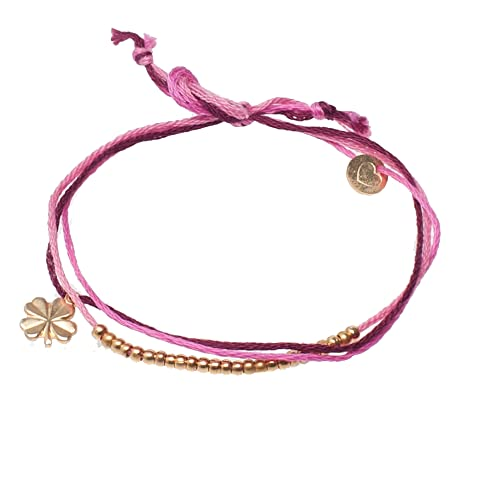 lua accessories Damen Armband Glücksband gold