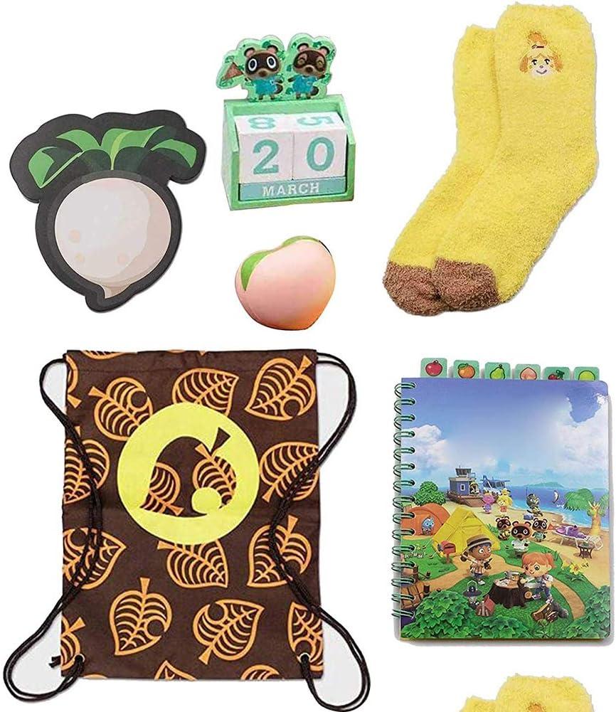 Mochila para cuaderno cuaderno calendario y calcetines de color melocot/ón caja de coleccionista de New Horizons Kit para los ni/ños Caja de coleccionista de New Horizons que incluye manta
