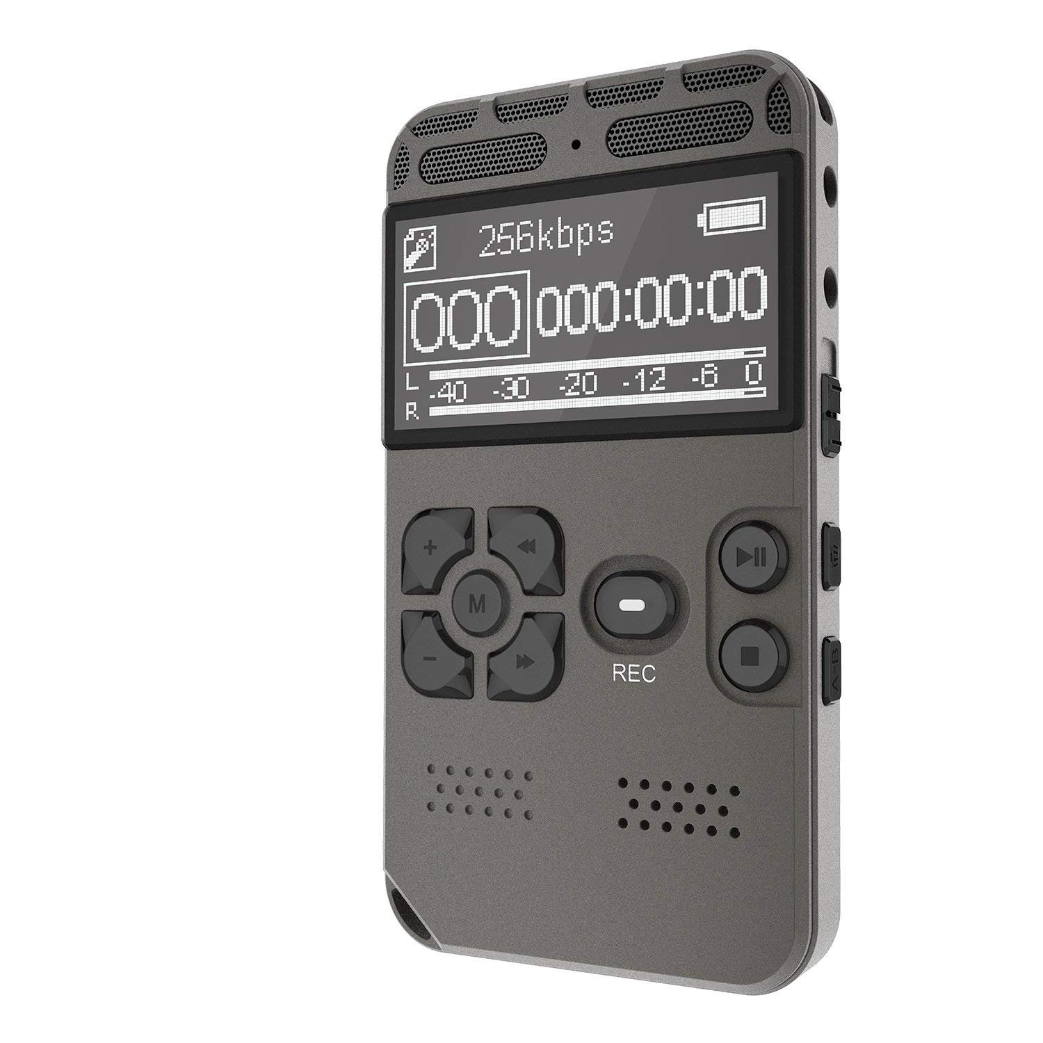 Amazon.com: Digital Voice Recorder 8GB Audio Sound Recorder, Portable  Rechargeable Voice Activated Rapid Recording for Meeting, lectures with MP3  Player Up ...