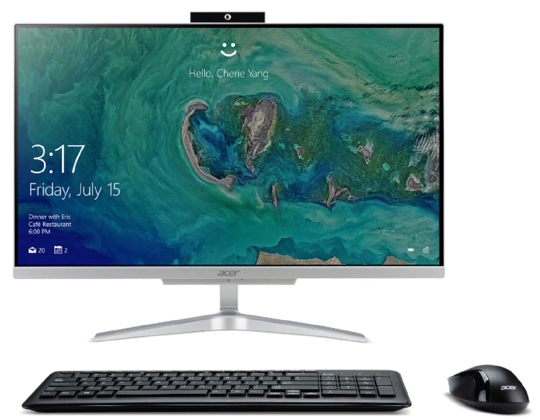 Acer Aspire C24-865-ACi5NT AIO Desktop, 23.8'' Full HD, 8th Gen Intel Core i5-8250U, 12GB DDR4, 1TB HDD, 802.11ac WiFi, Wireless Keyboard and Mouse, Windows 10 Home by Acer