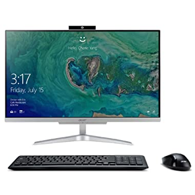 Acer Aspire C24-865-ACi5NT AIO Desktop, 23.8  Full HD, 8th Gen Intel Core i5-8250U, 12GB DDR4, 1TB HDD, 802.11ac WiFi, Wireless Keyboard and Mouse, Windows 10 Home