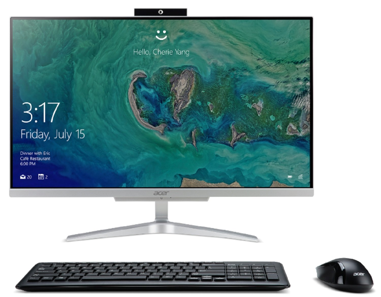 "Acer Aspire C24-865-ACi5NT AIO Desktop, 23.8"" Full HD, 8th Gen Intel Core i5-8250U, 12GB DDR4, 1TB HDD, 802.11ac WiFi, Wireless Keyboard and Mouse, Windows 10 Home"