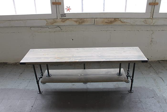Rustic Coffee Table, Rectangle, Industrial Table, Steel Pipe, Free  Shipping, Ships