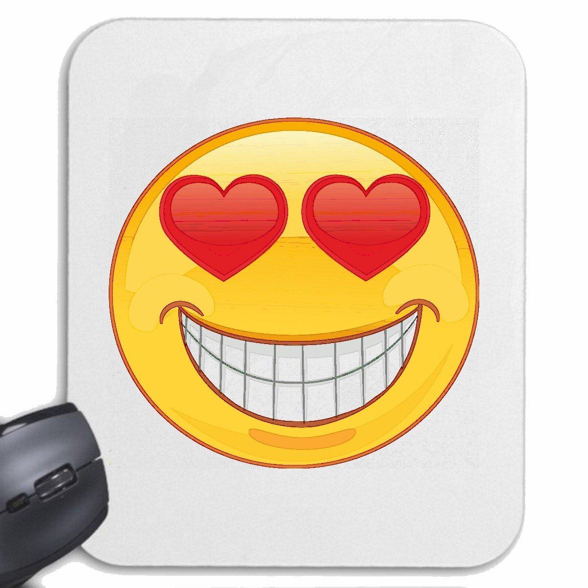 Mousepad verliebter smiley mit herzen in den amazon de computer zubehör