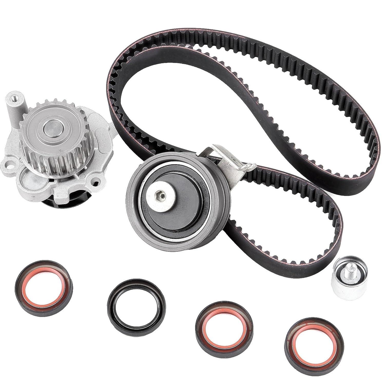 ECCPP Timing Belt Kit Water Pump TBK306B for 2001-2006 Audi TT Volkswagen Jetta Beetle GTi 1.8L TURBO TBK306B-GMB WP9020