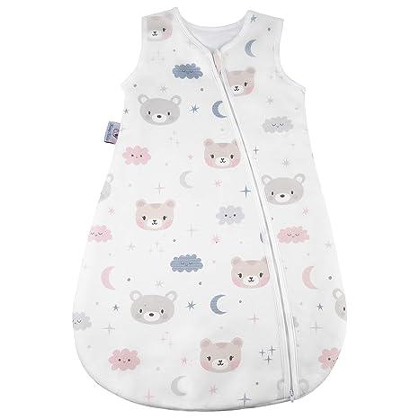 Saco de dormir para bebé de 2,5 tog, transpirable, muy suave,