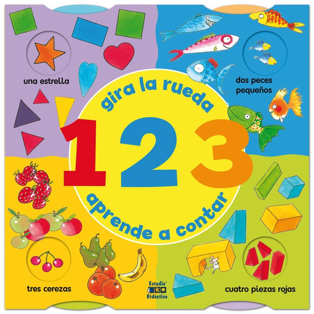 123: Gira la rueda, aprende a contar (Spanish Edition) (Spanish) Hardcover – March 1, 2014