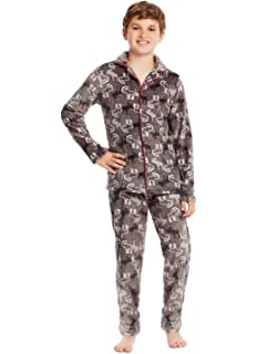 Only Boys Classic 2-Piece Button Front Top and Pants PJ Set