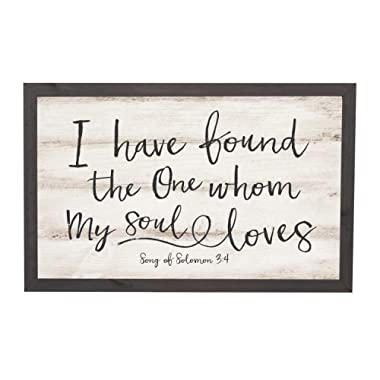 P. Graham Dunn I Have Found The One Soul Loves 18 x 11 Inch Solid Pine Wood Farmhouse Frame Wall Plaque
