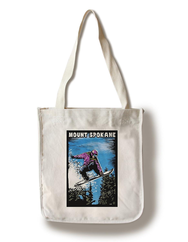 カウくる マウントSpokane、ワシントン – – LANT-68849-TT Scratchboard Snowboarder Canvas Tote Bag LANT-68849-TT Bag B01B5OB7UQ Canvas Tote Bag, 加坪屋(かつぼや):ba5c637f --- irlandskayaliteratura.org