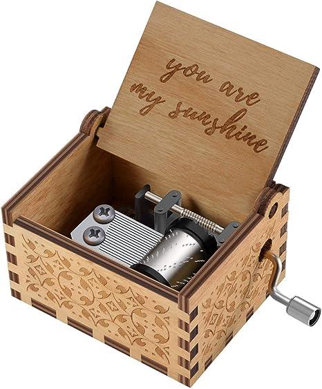 Freudlich 《You Are My Sunshine》 Cajas de música de Madera, Caja Musical de Madera Vintage grabada con láser Regalos para cumpleaños/Navidad/día de San Valentín (Wood): Amazon.es: Hogar