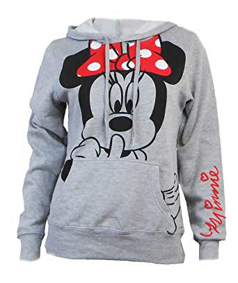 a12fb759af84 Amazon.com  Disney Junior Minnie Mouse Silent Hoodie Fleece Pullover ...