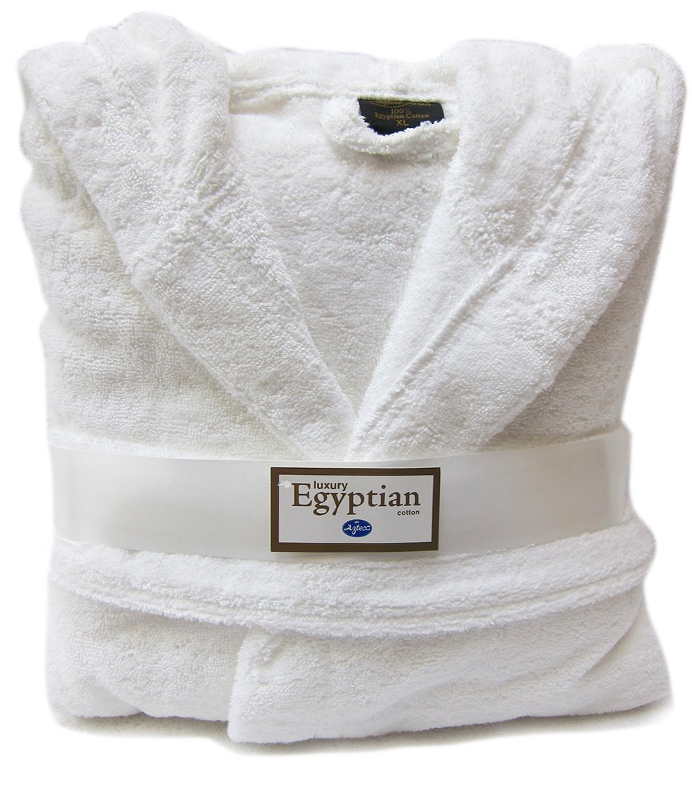 TowelsRus 100 % Egyptian Cotton Hooded Unisex Dressing Gown Thick Towelling 8e1719731