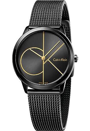 Calvin Klein Reloj Analogico para Mujer de Cuarzo con Correa en Acero Inoxidable K3M224X1: Amazon.es: Relojes
