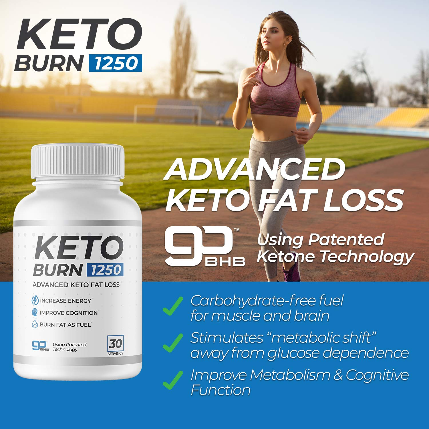 3 Bottles of KetoBurn 1250 (180 Capsules) - The ONLY Keto Pill That Uses Patented Fat Loss Technology! by KetoBurn 1250 (Image #4)