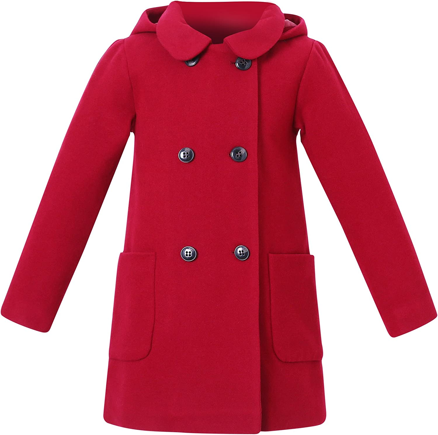 Richie House Girls Wool Double-Breasted Jacket Size 1-10Y RH2517
