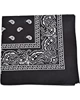 Paisley 100% Cotton Double Sided Bandana - 22 inches