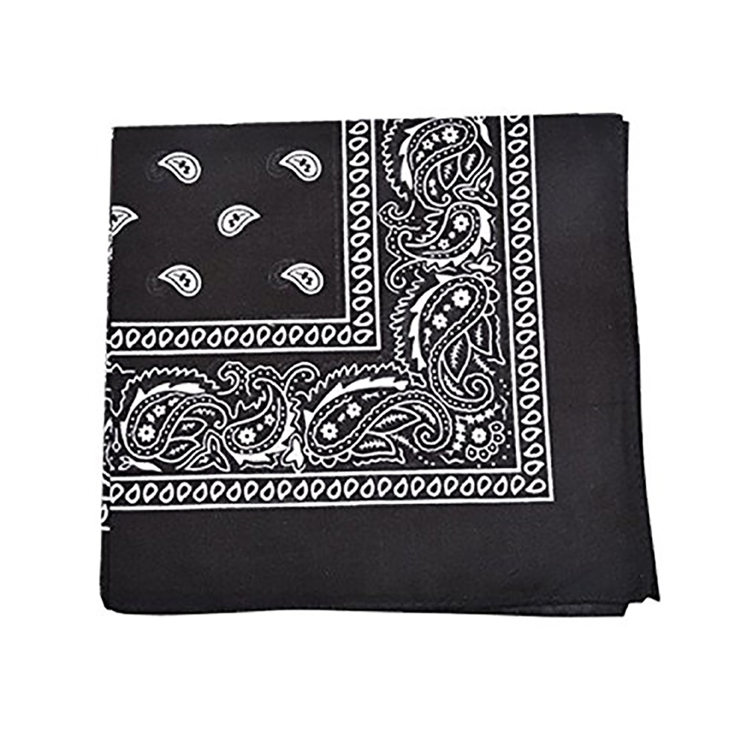 Qraftsy 100% Cotton Versatile Bandana - Paisley and Solid Colors Available - 12 Pack