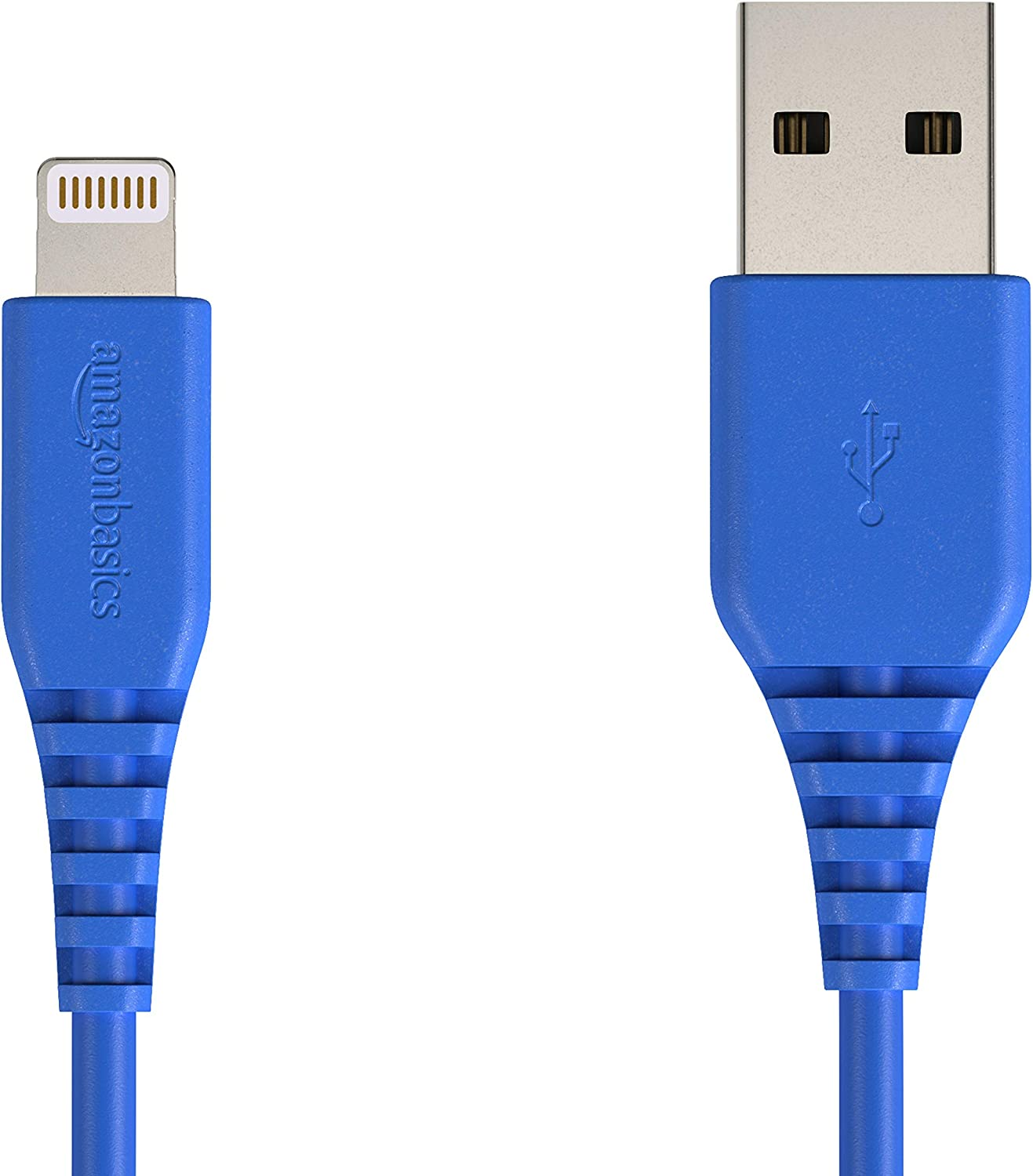 AmazonBasics Lightning to USB A Cable, MFi Certified iPhone Charger, Blue, 4 Inch