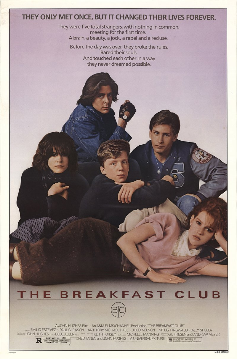 The Breakfast Club 1985 Authentic 27' x 41' Original Movie Poster Rolled Very Fine Emilio Estevez Drama U.S. One Sheet