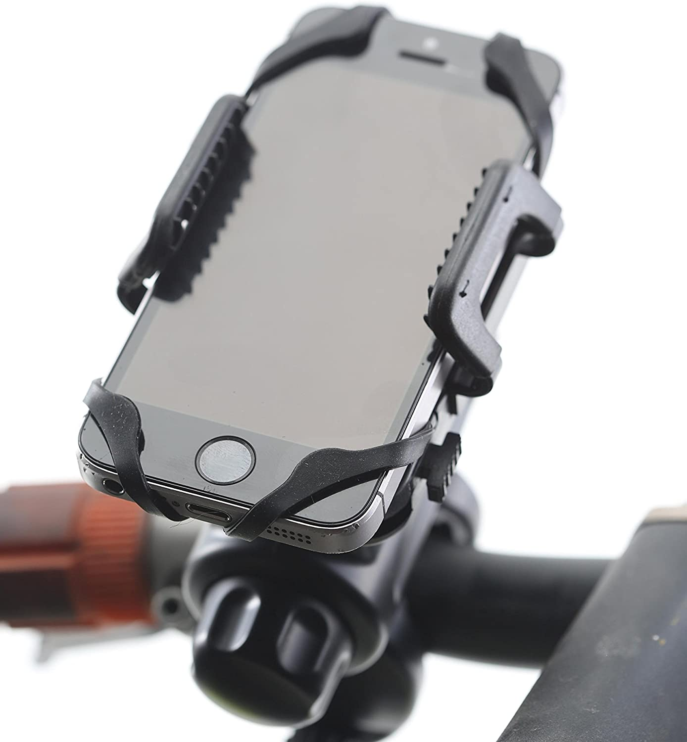 Non Moving Stationary or Rotation.Great For Using GPS /& Streaming Music Bluetooth Mount iPhone 7,8,Plus /& All Samsung Galaxy Note /& Smartphones Best Universal Bicycle /& Motorcycle Cell Phone Holder