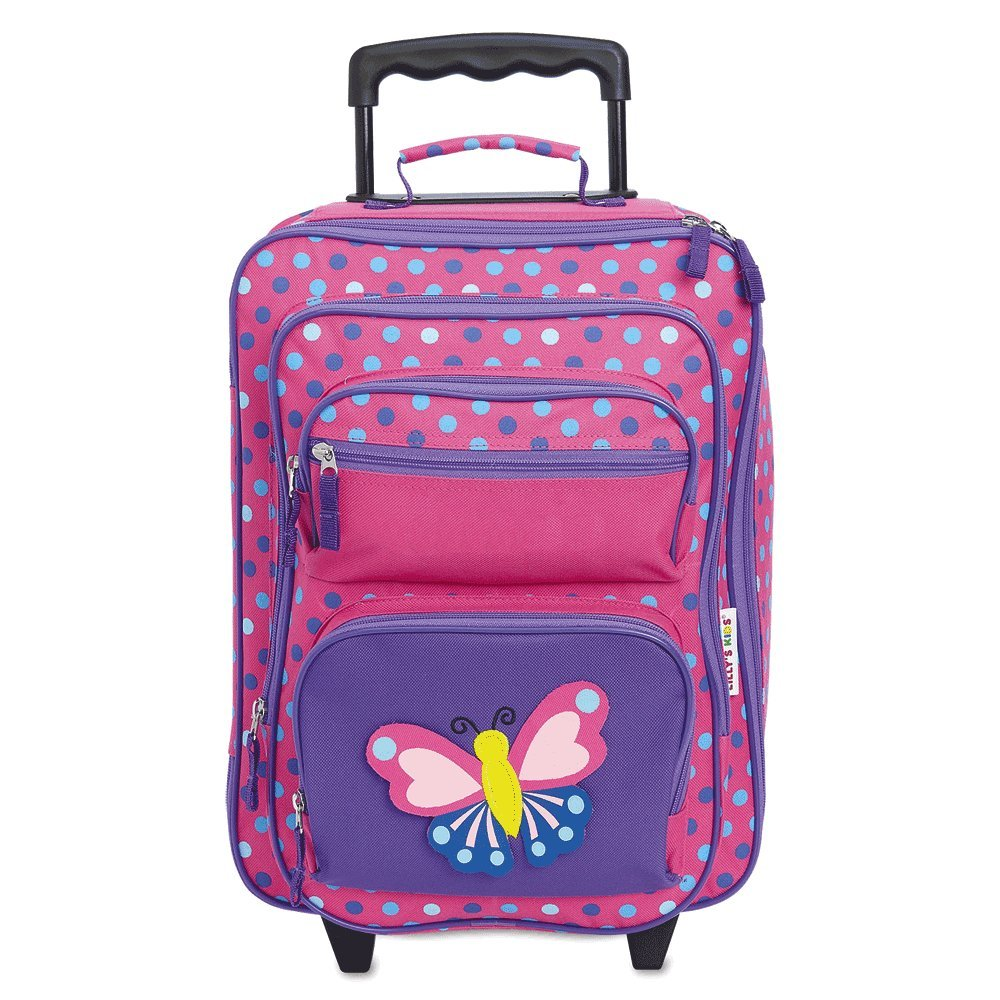 "Personalized Rolling Luggage for Kids – 3-D Butterfly Design, 5"" x 12'' x 20''H, By Lillian Vernon"