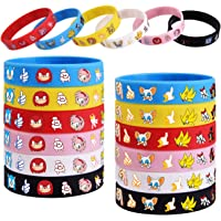 AnyGo 24pcs Bracelets for Sonic Theme Birthday Party Favors Wristband Supplies-Kids Size