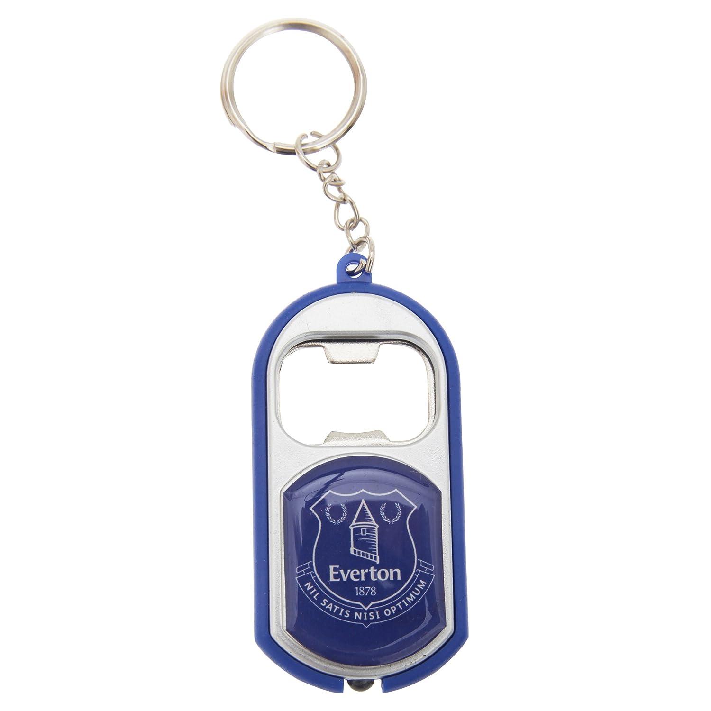 Everton FC Official Torch Light Football/Soccer Crest Bottle Opener Keyring