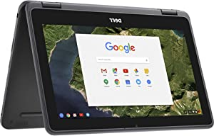 "Newest Dell 3189 Convertible Chromebook 11.6"" HD IPS Touchscreen, Intel Celeron N3060 Up to 2.48GHz, 4GB Ram 32GB SSD, HDMI, WiFi, Webcam, Chrome OS- (Renewed)"