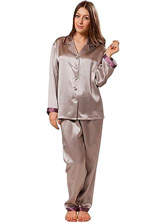 ElleSilk Women s 100% Pure Silk Pyjama 624449dcb