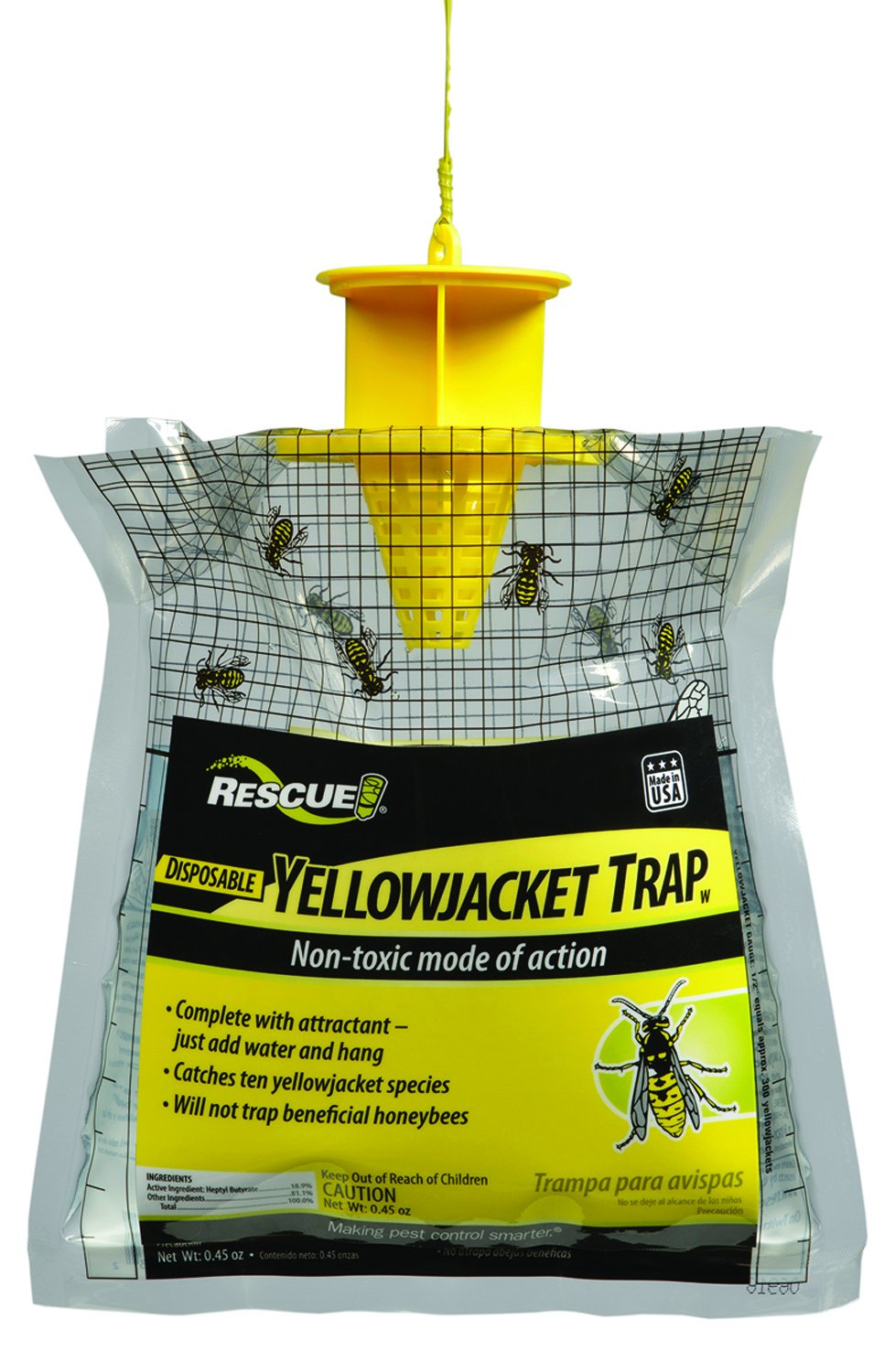 RESCUE! Non-Toxic Disposable Yellowjacket Trap, West of the Rockies
