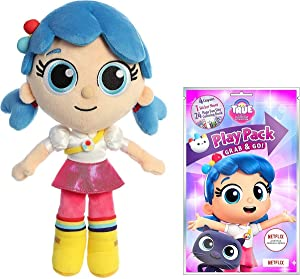 Aurora True and The Rainbow Kingdom, True Plush Doll with Coloring and Stickers Activity Pack