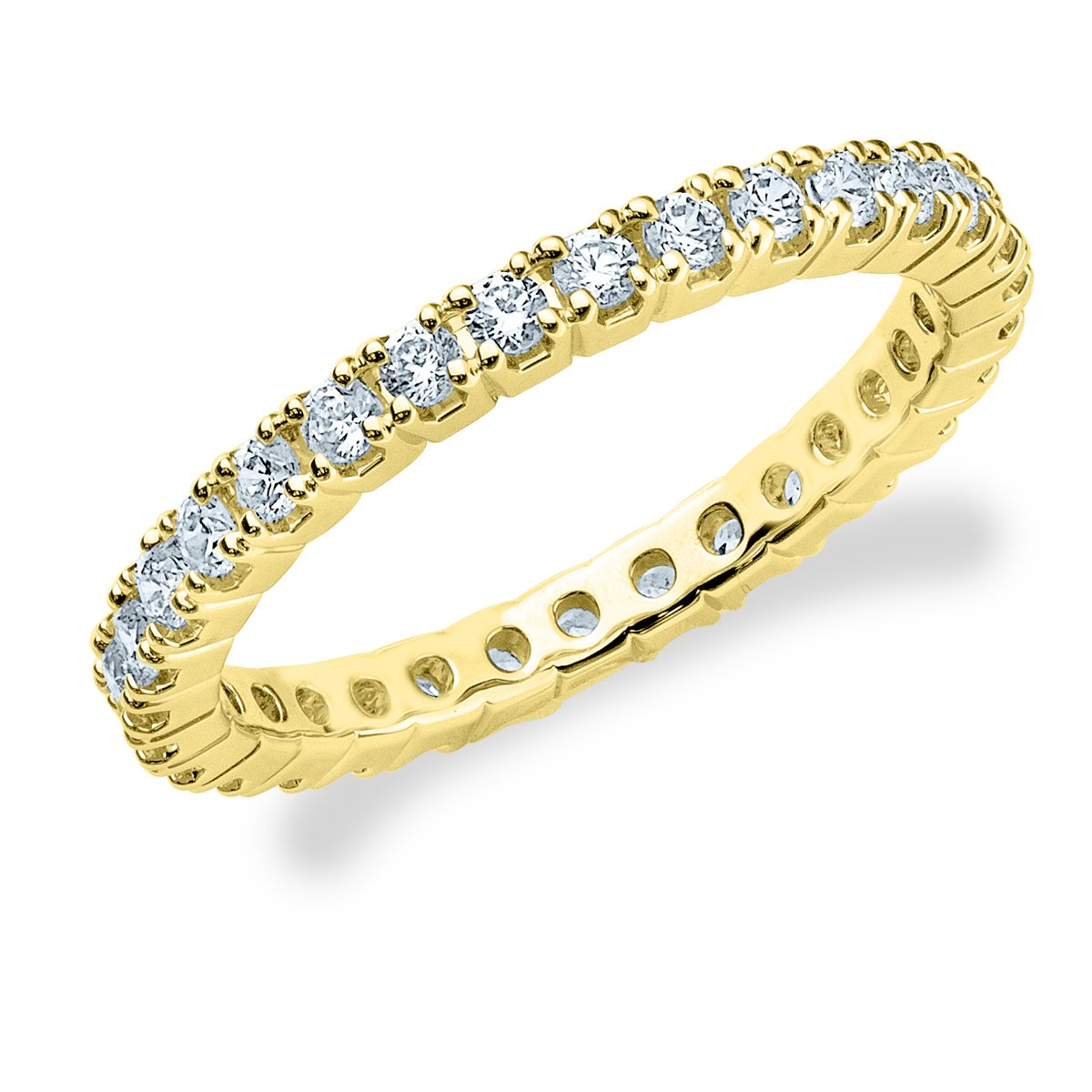 14K Yellow Gold Diamond Split Prong Set Eternity Band (1/2 cttw, G-H Color, SI1-SI2 Clarity) Size 6