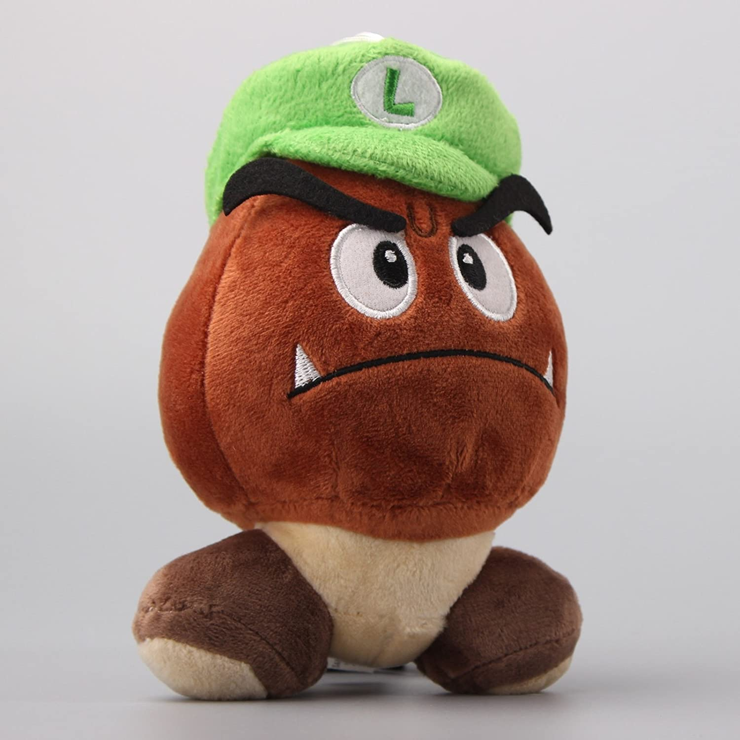 893be93bc41 Amazon.com  uiuoutoy Super Mario Bros. Goomba with Luigi HAT Stuffed Plush  6    Toys   Games