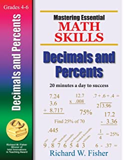Amazon mastering essential math skills for grades 4 5 mastering essential math skills decimals and percents mastering essential math skills fandeluxe Choice Image