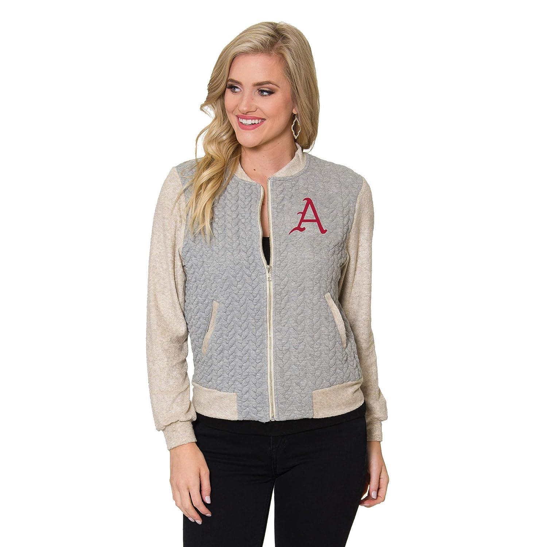 Braided Game Day Varsity Jacket Flying Colors Apparel Womens Collegiate NCAA Officially Licensed Arkansas Razorbacks