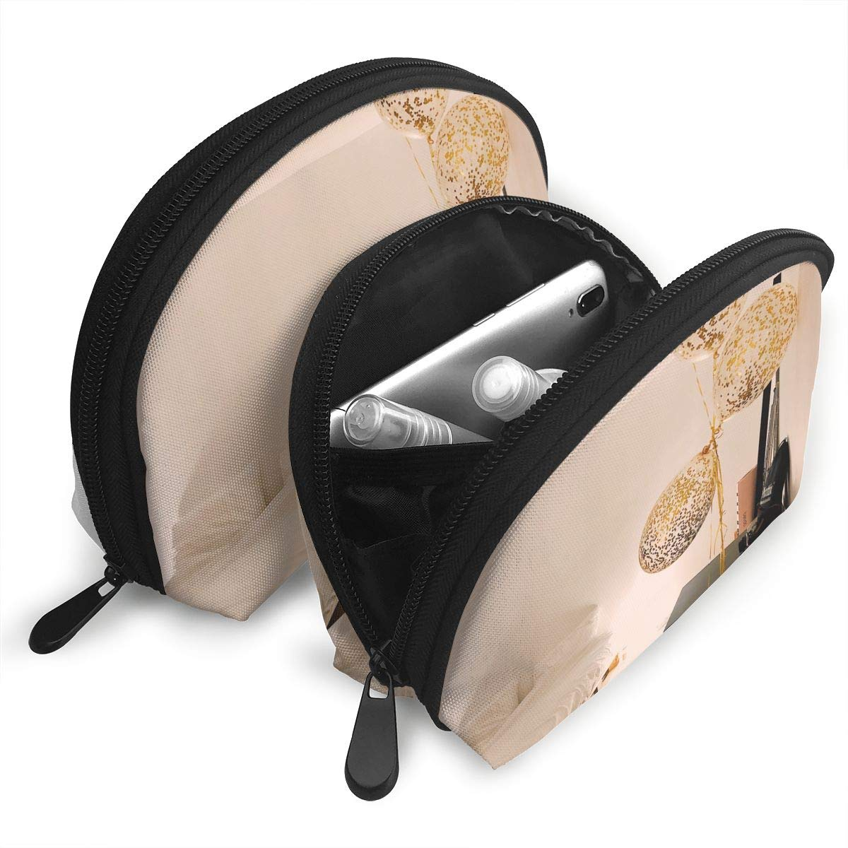HJDKFIW Personalized Braided Lamp Womens Shell Shape Carrying Case Organizer Bag Gift 2Pcs