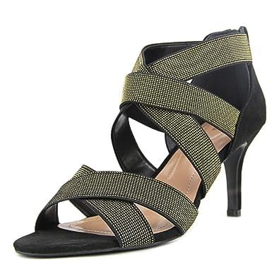 Style Co. Womens Seleste Open Toe Ankle Strap Classic Black/Silver Size 11.0
