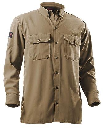 Camisa con cuello resistente al fuego, caqui, 2-XL: Amazon.es: Industria, empresas y ciencia
