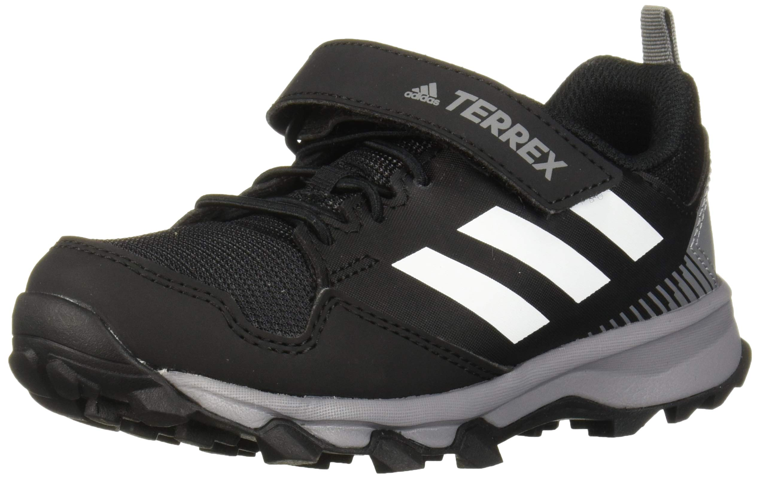 adidas outdoor Terrex Tracerocker CF Trail Running Shoe, Carbon/White/Black 13K Child US Little Kid