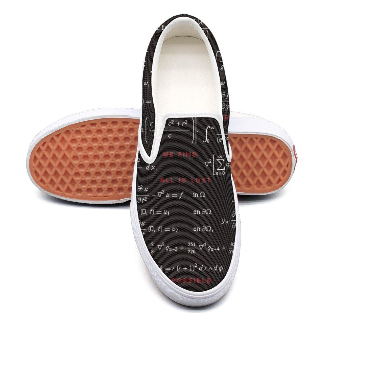 RegiDreae Canvas Slip On Sneakers For Women Physics Knowledge Mathematics Philosophy Fashion Sneaker