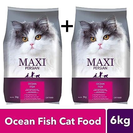 Buy Maxi Persian Ocean Fish Cat Food 3kg Buy 1 Get 1 Free Online